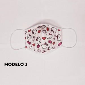 Mascarillas para niñas - 3 Modelos - 4 capas protectoras