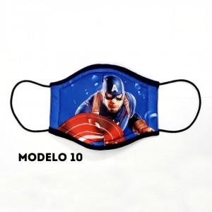 Mascarillas para niños - Modelos superhéroes - 4 capas protectoras