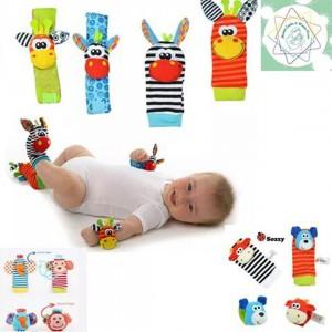 Medias y Pulseras Didácticas para Bebé - Aprende jugando - Estimulación temprana