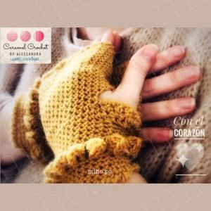 Mitones Bubble - Técnica Crochet