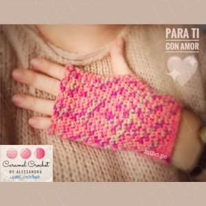 Mitones Minipop - Técnica Crochet