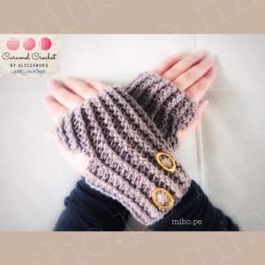 Mitones Elegant - Técnica Crochet