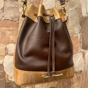 Bucket Bag - Bolso de Dama - Color Negro y Marron