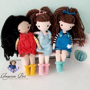 Muñequitas Janet, Sophia y Pamela - Amigurumi Crochet