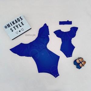 Pack Rumberas Mamá e Hija Color Azul - Ropa para bebés
