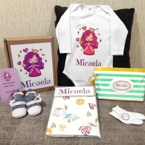 Caja Baby Shower - Set Recién Nacido Personalizado Plus - Ropa de Bebé