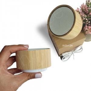 Mini Parlante Bluetooth Bambú