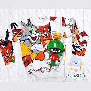 Polera con diseño Tom y Jerry - Ropa para niños - Talla 12 a 14