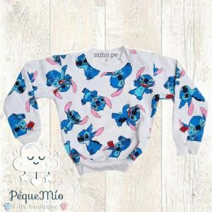 Polera con diseño Lilo y Stitch - Ropa para niños - Talla 8 a 16