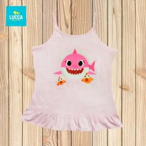Top Rosa Baby Shark - Atuendo Sport - Ropa para niñas de talla 2