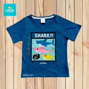 Polo azul manga corta Baby Shark - Atuendo Sport - Ropa para niños de talla 2