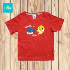 Polo rojo manga corta Baby Shark - Atuendo Sport - Ropa para niños de talla 2