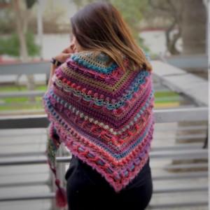 Poncho multicolor - Marca Perú - Abrigo - Estilo Vintage
