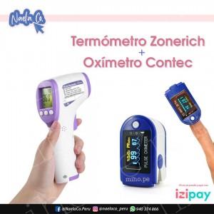 Pack Salud - Termómetro Zonerich y Pulsioxímetro Contec - Oferta Especial