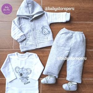 Conjunto Koala Gris - Ropa de bebé