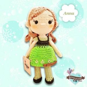 Princesa Ana - Amigurumi Crochet - Hermosa muñeca Coleccionable - Regalo para niñas