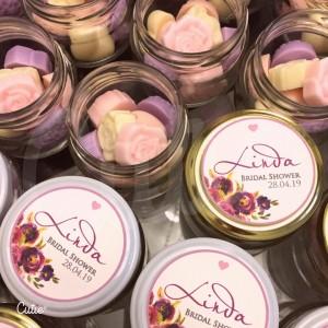 Recuerdos de Boda, Baby Shower, Bautizo - Jabones Perfumados con etiqueta personalizable