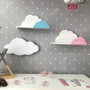 Repisas de nubes dobles - Deco Baby