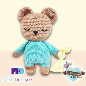 Osito Ruben - Amigurumi Crochet - Juguete de bebé - Regalo para niños