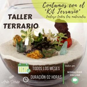 Taller Online Creación de Terrario Decorativo - Incluye Kit con materiales