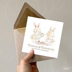 Tarjetas de Hermanas - Temática Bosque - Personalizada - Etiquetas de Regalo