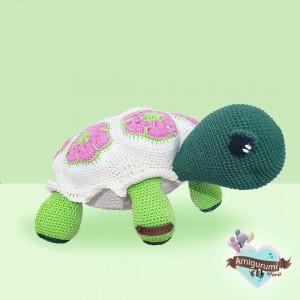 Tortuga Flor Africana - Amigurumi crochet - Regalo para niños
