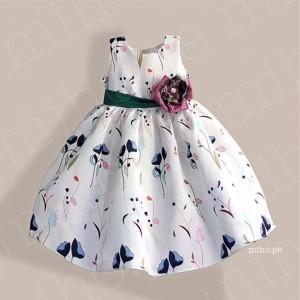 Vestido Blanco Floreado Nathalie - Ropa para bebés de 3 años