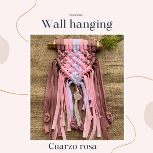 Wall Hanging Corazón - Tejido a mano Macramé