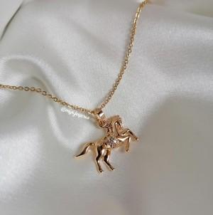 Horse Lover Necklace - Collar de acero