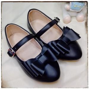 Balerinas Tornazoladas con moño color Negro