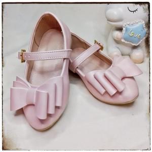 Balerinas Tornazoladas con moño color Palo Rosa