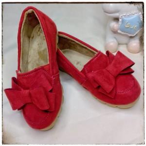 Balerinas con moño color Rojo