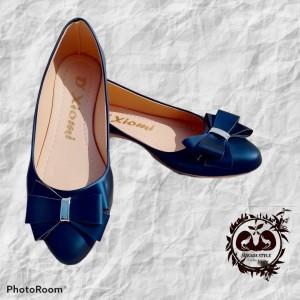 Balerina moño para dama color azul