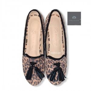 Loafers Mikeyla Animal Print - 100% Cuero