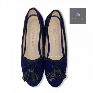 Loafers Mikeyla Azules - 100% Cuero