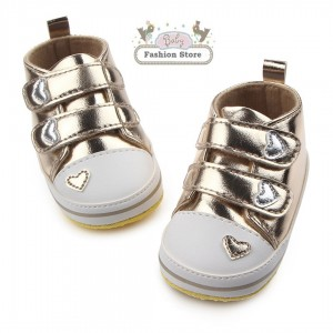 Zapatillas Corazón Dorado - Ropa para bebés de 3 a 6 meses