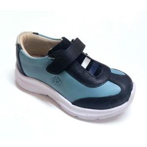 Zapatillas de Cuero Azul - Calzado Infantil