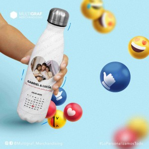 Botella Eco Personalizada con logo, foto o diseño a full color