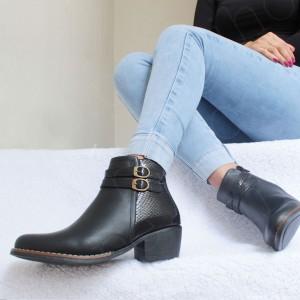 Botines Wen - Taco 5 - Color Negro - Zapatos cómodos