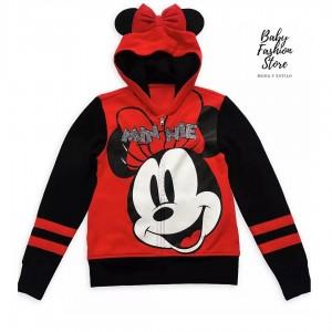 Polera con capucha y cremallera de Minnie Mouse
