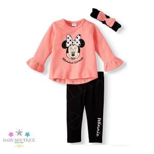 Conjunto Minnie con Lacitos - Set de 3 piezas - Ropa de bebé niña