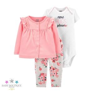 Conjunto Dulce Rosa Floral - Ropa de bebé niña