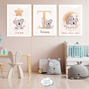 Cuadros Decorativos Infantiles - Con el nombre de tu bebé