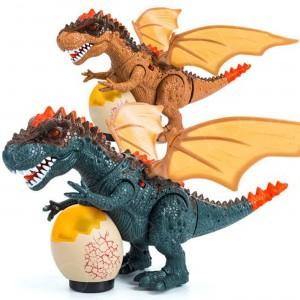Dinosaurio Rex - Luces y Bota Humo - Juguete de Niño