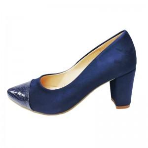 Zapatos con tacón ancho - Color Azul