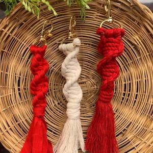 Llaveros Trenza y Decorativos - Tejido a mano Colores Variados