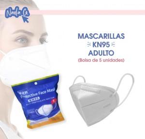 Mascarillas KN95 para Adultos (Bolsa de 5 unidades)