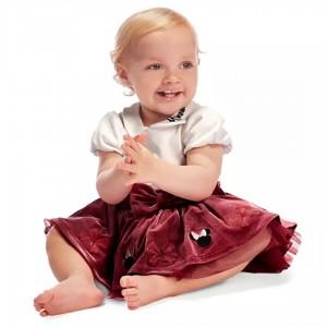Body navideño con falda de Minnie Mouse para bebé