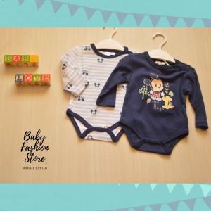 Pack 2 Bodys Mickey Mouse Azules - Ropa para bebés de 3 a 9 meses