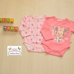 Pack body minnie Rosado 6,9,12 meses